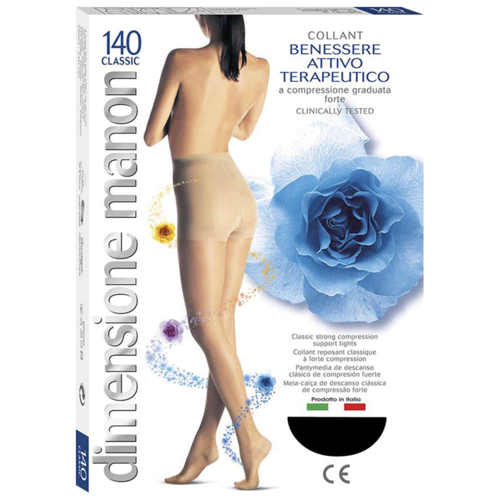 come comprare il migliore selezione premium CABIFI - Collant Manon 140 Denari Compressione Graduata Forte (18-22 mmHg)  Terapeutica