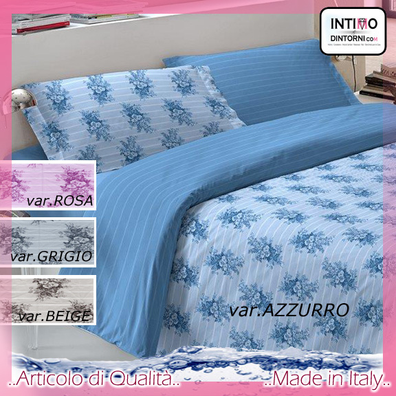 Completo Lenzuola Note Notturne in Puro Cotone TOSCA Svtx
