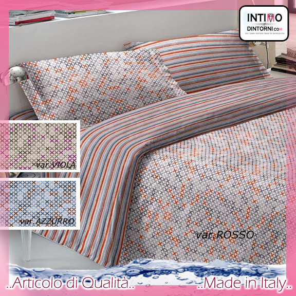 Completo Lenzuola Note Notturne in Puro Cotone GINEVRA Svtx