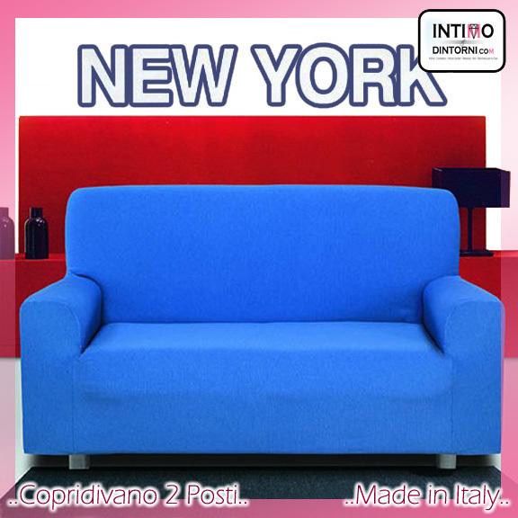 Copridivano 2 posti universale new york elasticizzato microcostina tinta unita intimo e - Copridivano 2 posti senza braccioli ...