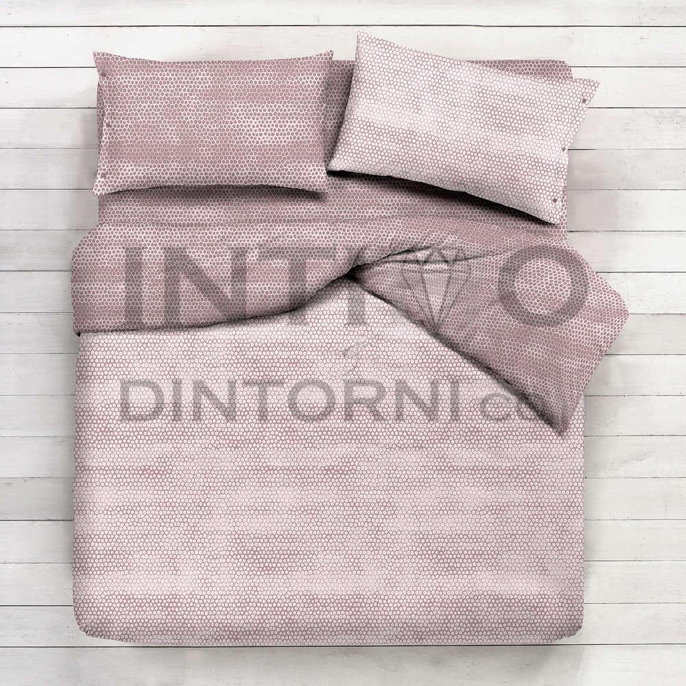Parure Copripiumino Flanella.Parure Copripiumino Flanella Pattern Bon Bon Beige 100 Cotone