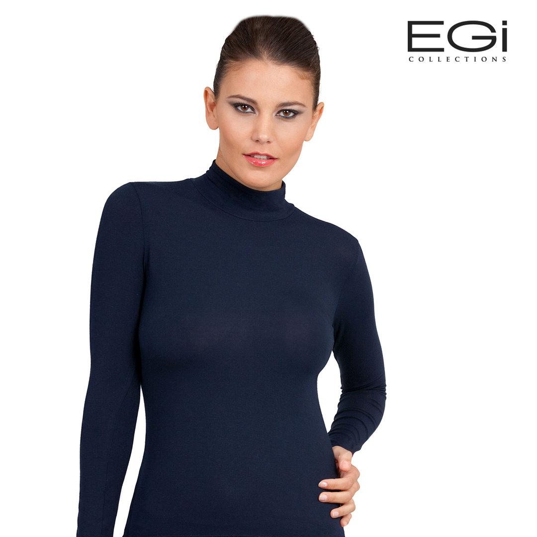 Maglia donna Vajolet senza maniche a lupetto in cotone elasticizzato art 6267