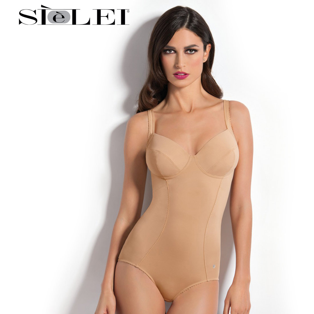 SIèLEI - DONNA - Body liscio senza ferretto - Coppa differenziata C - Microfibra stretch - 968