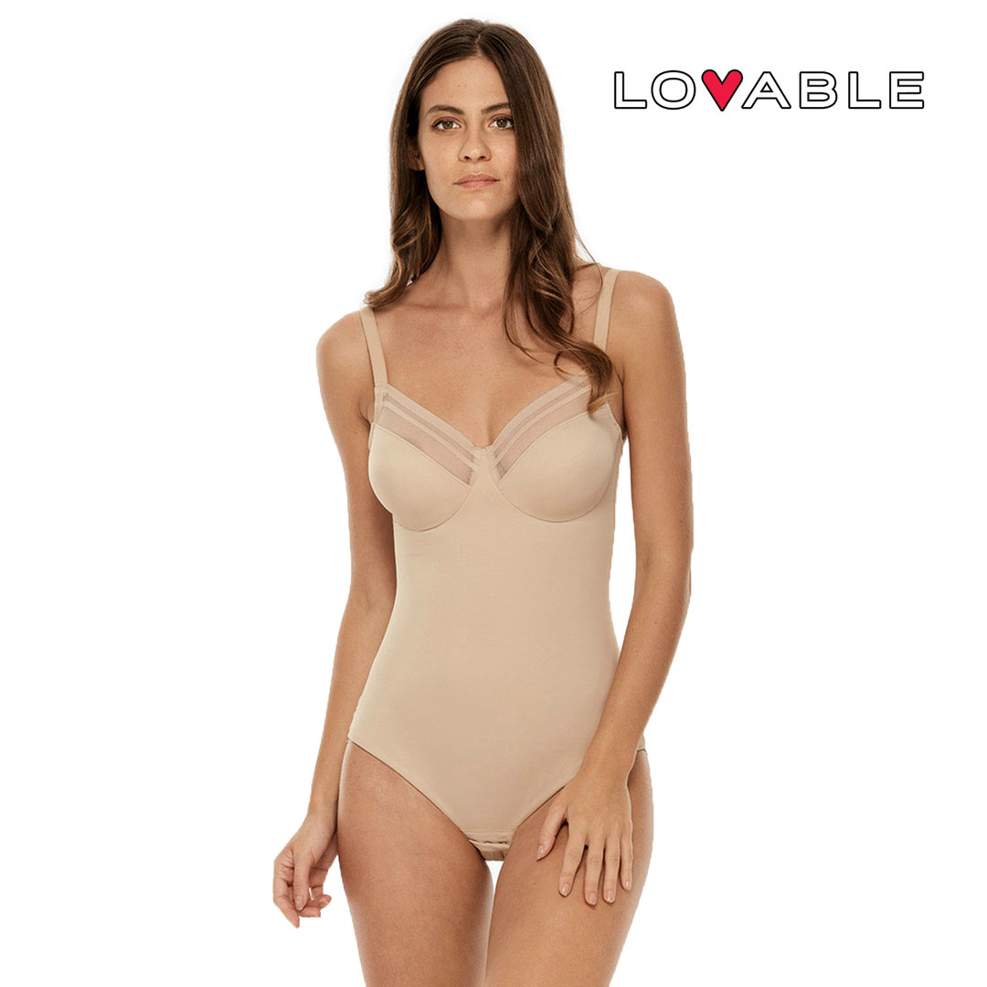 LOVABLE - GENEROUS NEW FIT - Body senza ferretto non imbottito - Microfibra - L05X9